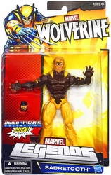 Sabretooth action figure Wolverine Legends with Puck piece