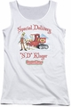 Santa Claus Is Comin To Town juniors tank top Kluger white