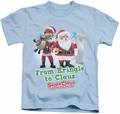 Santa Claus Is Comin To Town kids t-shirt Kringle To Claus light blue