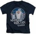 Santa Claus Is Comin To Town kids t-shirt Winter Warlock navy