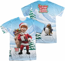 Santa Claus Is Comin To Town mens full sublimation t-shirt Helpers