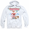 Santa Claus Is Comin To Town pull-over hoodie Animal Friends adult white