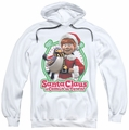 Santa Claus Is Comin To Town pull-over hoodie Penguin adult white