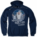 Santa Claus Is Comin To Town pull-over hoodie Winter Warlock adult navy