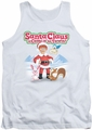 Santa Claus Is Comin To Town tank top Animal Friends mens white