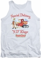 Santa Claus Is Comin To Town tank top Kluger mens white