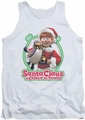 Santa Claus Is Comin To Town tank top Penguin mens white