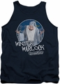 Santa Claus Is Comin To Town tank top Winter Warlock mens navy