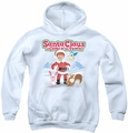 Santa Claus Is Comin To Town youth teen hoodie Animal Friends white