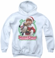 Santa Claus Is Comin To Town youth teen hoodie Penguin white