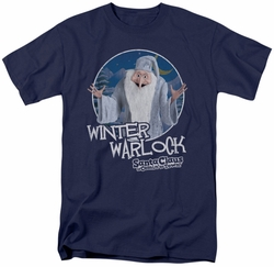 Santa Claus Is Coming To Town t-shirt Winter Warlock mens navy