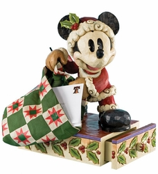 Santa Mickey Large Figure Disney Traditions