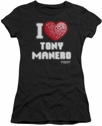 Saturday Night Fever juniors t-shirt I Heart Tony black