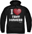 Saturday Night Fever pull-over hoodie I Heart Tony adult black