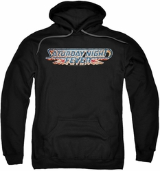 Saturday Night Fever pull-over hoodie Logo adult black