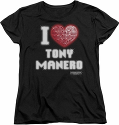 Saturday Night Fever womens t-shirt I Heart Tony black