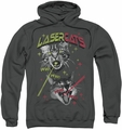 Saturday Night Live SNL pull-over hoodie Laser Cats adult charcoal