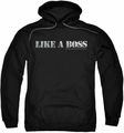Saturday Night Live SNL pull-over hoodie Like A Boss adult black