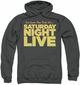 Saturday Night Live SNL pull-over hoodie Live From New York adult charcoal