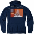 Saturday Night Live SNL pull-over hoodie The Conehead adult navy