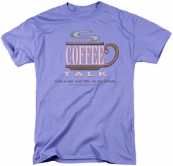 Saturday Night Live SNL t-shirt Coffee Talk mens  lavendar