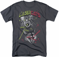 Saturday Night Live SNL t-shirt Laser Cats mens charcoal