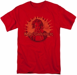 Saturday Night Live SNL t-shirt Macgruber mens red
