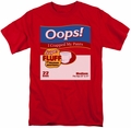 Saturday Night Live SNL t-shirt Oops mens  red