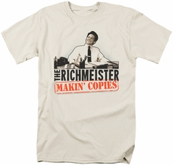 Saturday Night Live SNL t-shirt The Richmeister mens  cream
