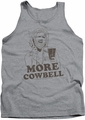 Saturday Night Live tank top Illustrated Cowbell mens athletic heather