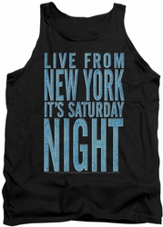 Saturday Night Live tank top Its Saturday Night mens black