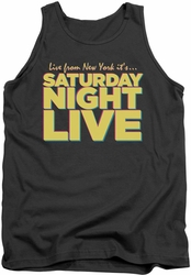 Saturday Night Live tank top Live From Ny mens charcoal