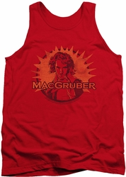 Saturday Night Live tank top Macgruber mens red