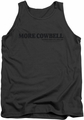 Saturday Night Live tank top More Cowbell mens charcoal