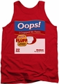 Saturday Night Live tank top Oops mens red