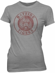 Saved By The Bell Bayside Tigers juniors t-shirt Ash Grey