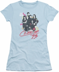Saved By The Bell juniors t-shirt Class Of 93 light blue