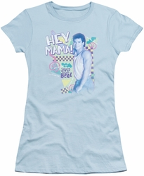 Saved By The Bell juniors t-shirt Hey Mama light blue