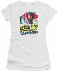 Saved By The Bell juniors t-shirt I Love Kelly white