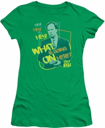 Saved By The Bell juniors t-shirt Mr. Belding kelly green