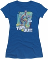 Saved By The Bell juniors t-shirt Time Out royal blue