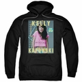 Saved By The Bell pull-over hoodie Kelly Kapowski adult black