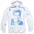 Saved By The Bell pull-over hoodie Preppy adult white