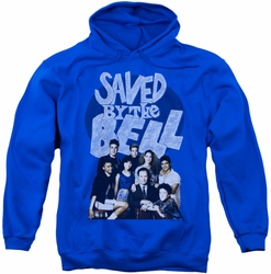 Saved By The Bell pull-over hoodie Retro Cast adult royal blue