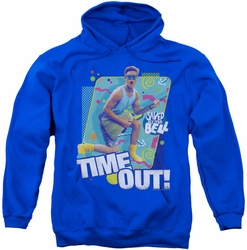 Saved By The Bell pull-over hoodie Time Out adult royal blue