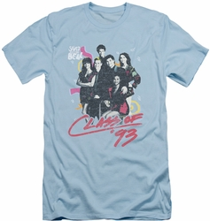 Saved By The Bell slim-fit t-shirt Class Of 93 mens light blue