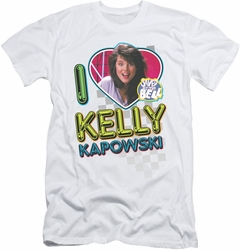 Saved By The Bell slim-fit t-shirt I Love Kelly mens white