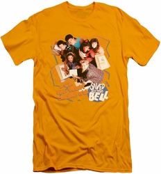 Saved By The Bell slim-fit t-shirt It's All Right mens gold