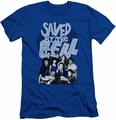 Saved By The Bell slim-fit t-shirt Retro Cast mens royal