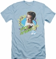 Saved By The Bell slim-fit t-shirt Zack Attack mens light blue